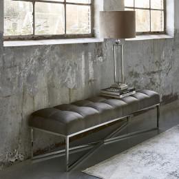 Thompson velvet bench anthracite
