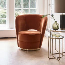 Taylor lobby armchair mohet orange