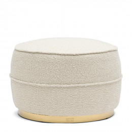 Taylor boucle footstool white sand