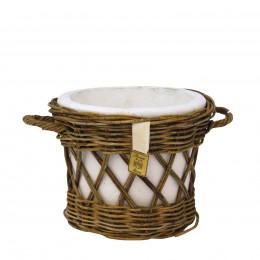 Cachepot rattan open weave m