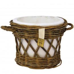 Cachepot rattan open weave l