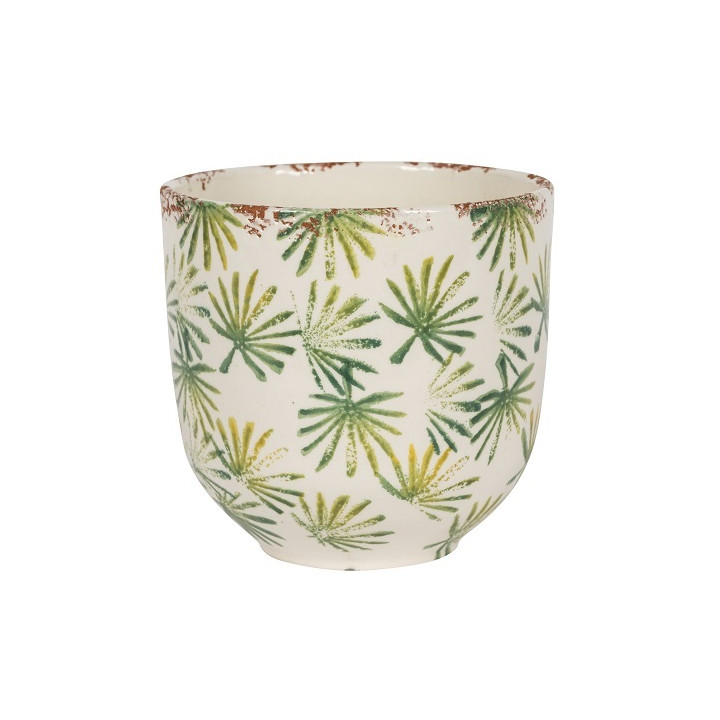 Grenada 20 01la indoor round palm planter light green 18cm dia