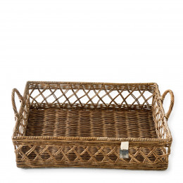 Avenue pierre wicker tray basket 45x30cm