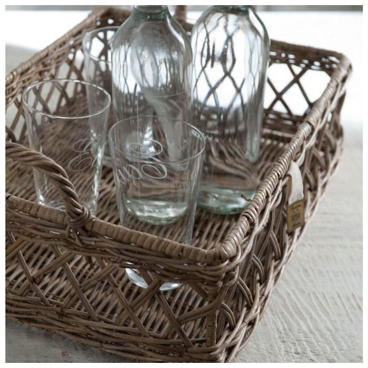 Avenue pierre wicker tray basket 45x30cm