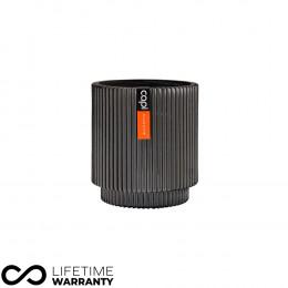 Indoor nature groove cylinder planter anthracite 11cm dia