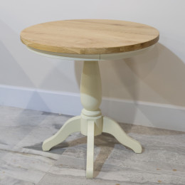 Warehouse clearance bramley cream painted round table