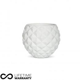 Indoor lux heraldry ball planter white 18cm dia