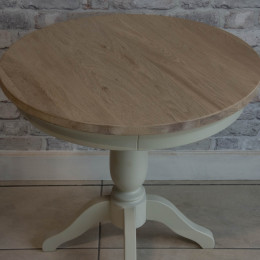 Ex display warehouse clearance clifton grey painted round table