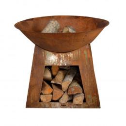 Firebowl wood storage s