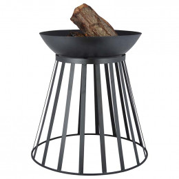 Fire basket fire bowl turnable