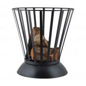Fire basket fire bowl turnable