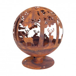 Fire ball laser cut rust