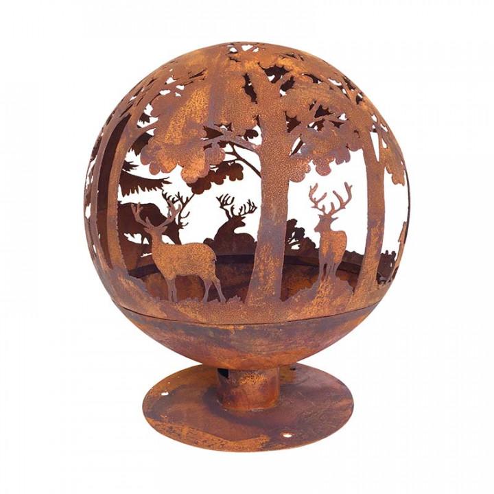 Fire ball laser cut rust