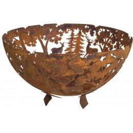 Fire bowl laser cut rust