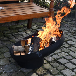 Fire bowl sloping