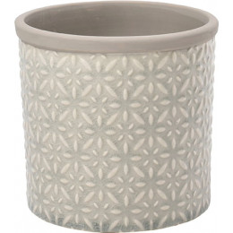 Glazed pot tuscany large grey 16cm dia