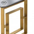Vintage edwin side table brushed brass