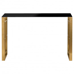 Vintage edwin console brushed brass