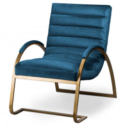 Vintage ark chair navy brass