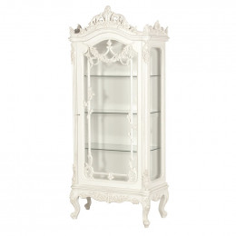 Heavy carved glass fronted antique display cabinet