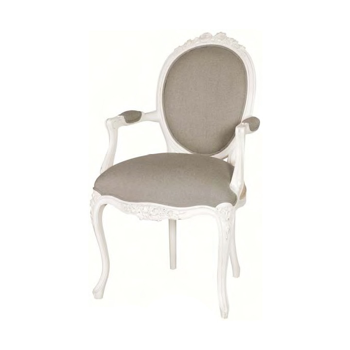 Upholstered antique armchair