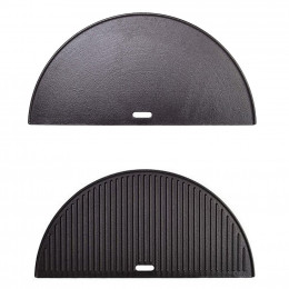 Half moon cast iron reversible griddle classic joe