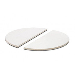 Half moon deflector plates classic joe set of 2