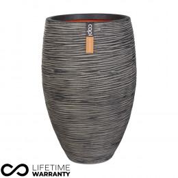 Nature elegant delux rib planter nl charcoal 40cm dia