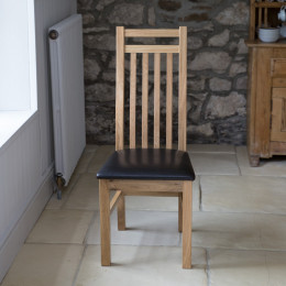 Kingston slatted dining chair warehouse clearance