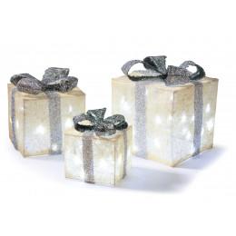 3 piece silver white parcels led