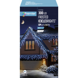 300 led frosted iciclebrights 6m lit length