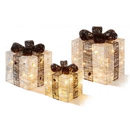 3 piece silver black parcels led