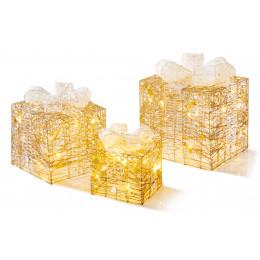 3 piece gold white parcels led