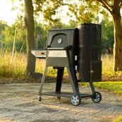 Digital charcoal grill smoker gravity fed 560