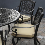 Toulouse 6 seat set with 150cm round table lazy susan bronze