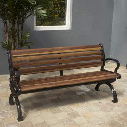 9 slat fibreglass bench