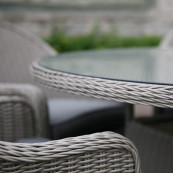 Porto 6 seater round dining set