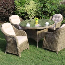 Sepino 4 seat round dining set
