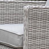 Sepino corner sofa set with rectangular rising table ice bucket light grey