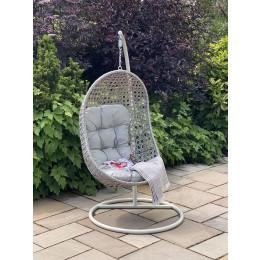 Portofino single pod hanging chair light grey