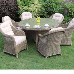 Sepino 6 seat round dining set w l susan