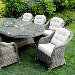 Sepino 8 seat oval dining set w l susan
