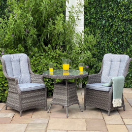 Boston bistro set dark grey