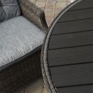 Boston 4 seat round set polywood dark grey