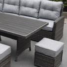 Boston casual sofa polywood dining set dark grey