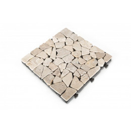 Mosaic travertine decking tile pack of 6