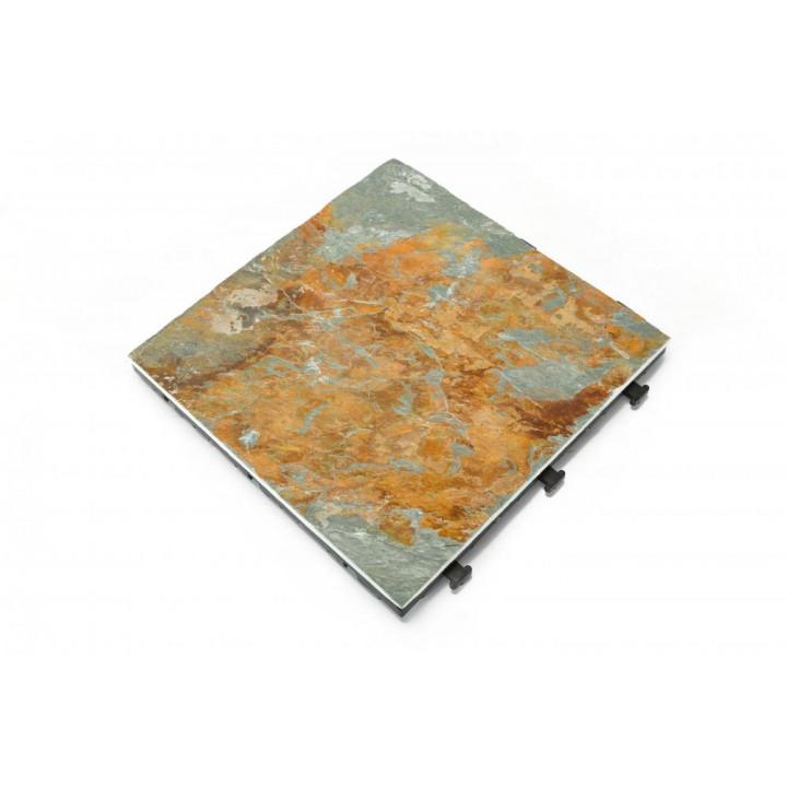 Natural slate decking tile pack of 6