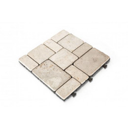 Natural travertine decking tile pack of 6