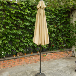 2 75m parasol hammered bronze with cream fabric
