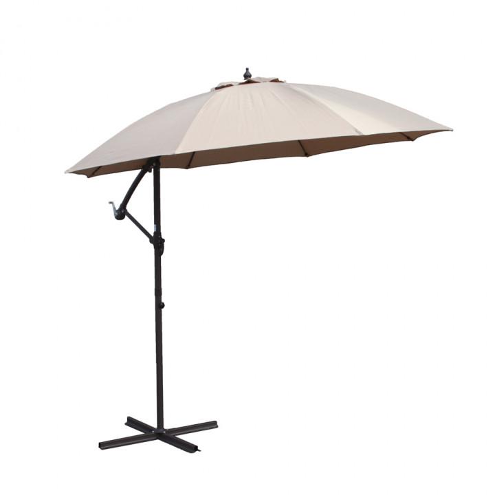 Cantilever parasol cream 3m